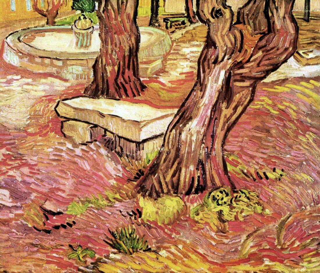 The Stone Bench in the Garden of Saint-Paul Hospital - Van Gogh