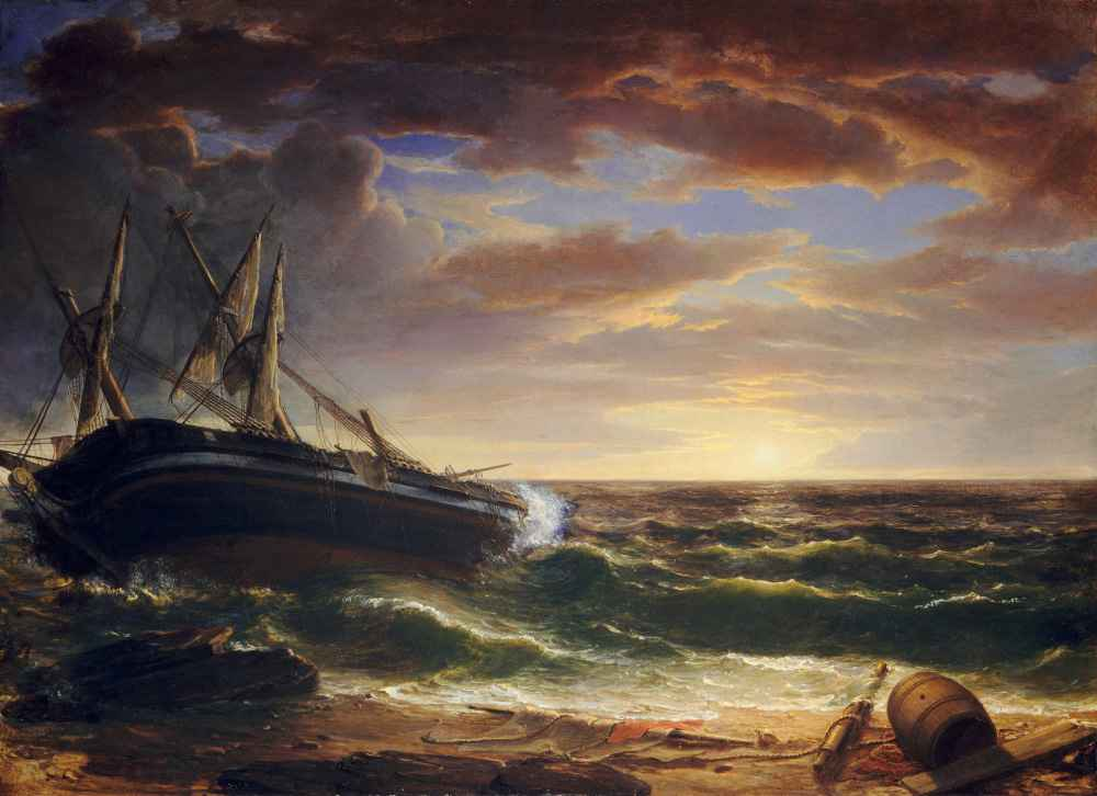 The Stranded Ship - Asher Brown Durand