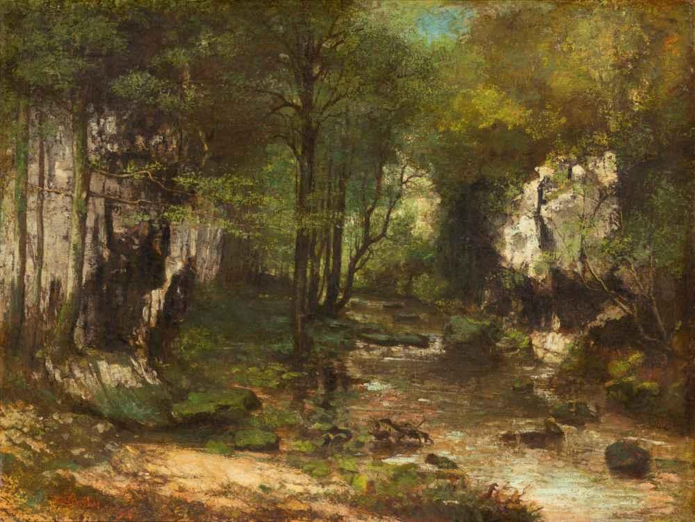 The Stream (Le Ruisseau du Puits-Noir; vallée de la Loue) - Gustave Co