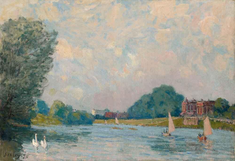 The Thames at Hampton Court - Alfred Sisley