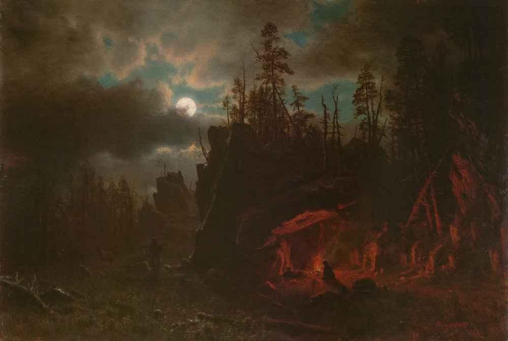The Trappers' Camp - Albert Bierstadt