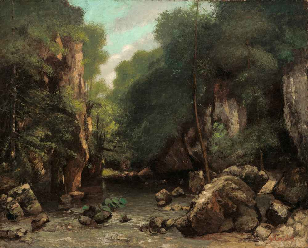 The Valley of Les Puits-Noir - Gustave Courbet