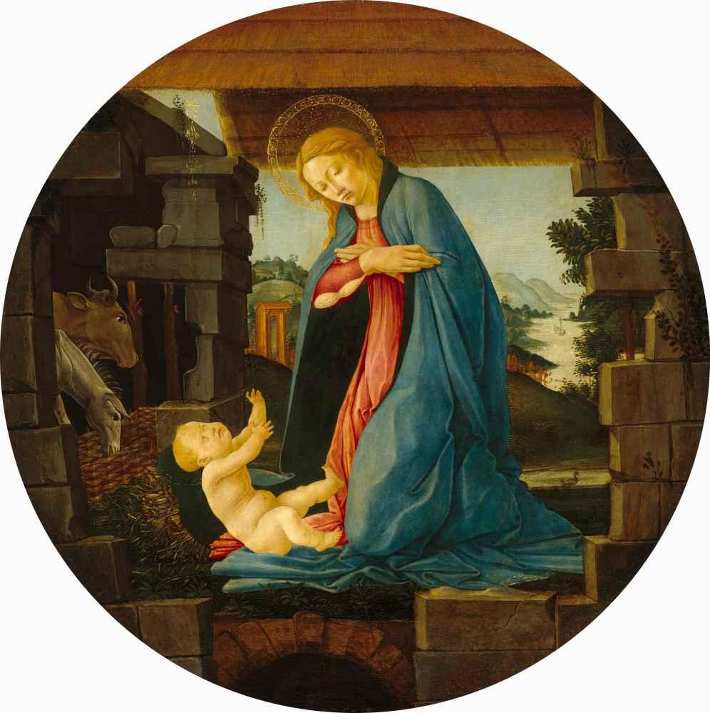 The Virgin Adoring the Child - Sandro Botticelli