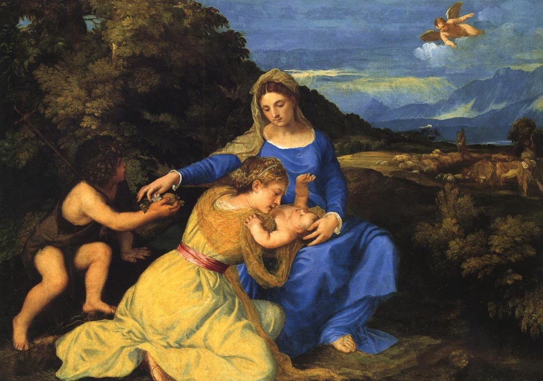 The Virgin and child - Titian