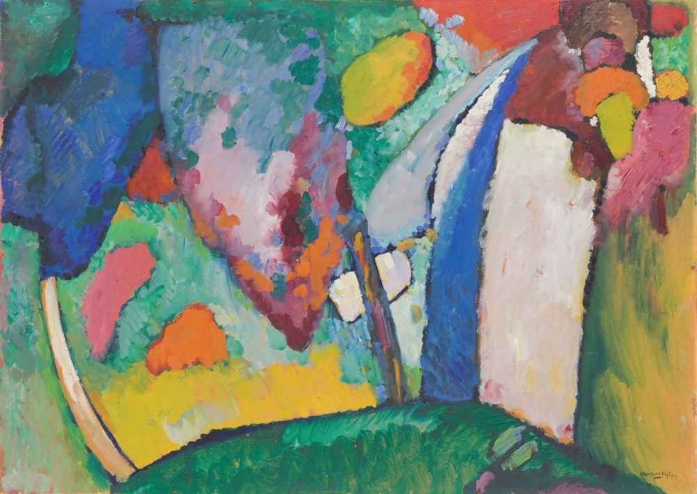 The Waterfall - Wassily Kandinsky
