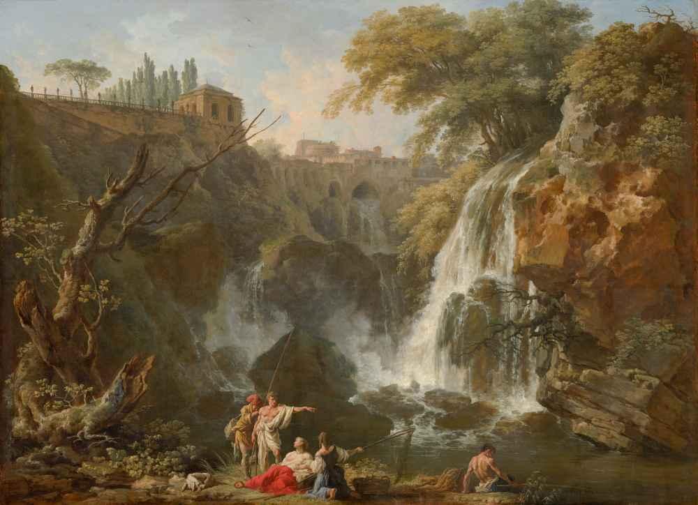 The Waterfalls at Tivoli, with the Villa of Maecenas - Claude Joseph V