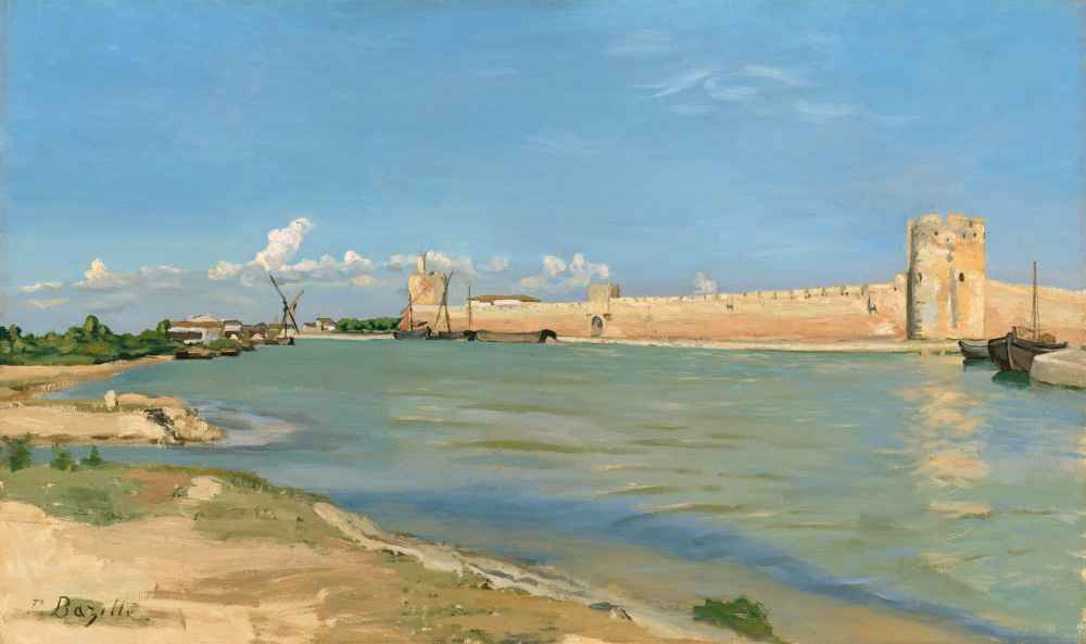 The Western Ramparts at Aigues-Mortes, 1867 - Frederic Bazille