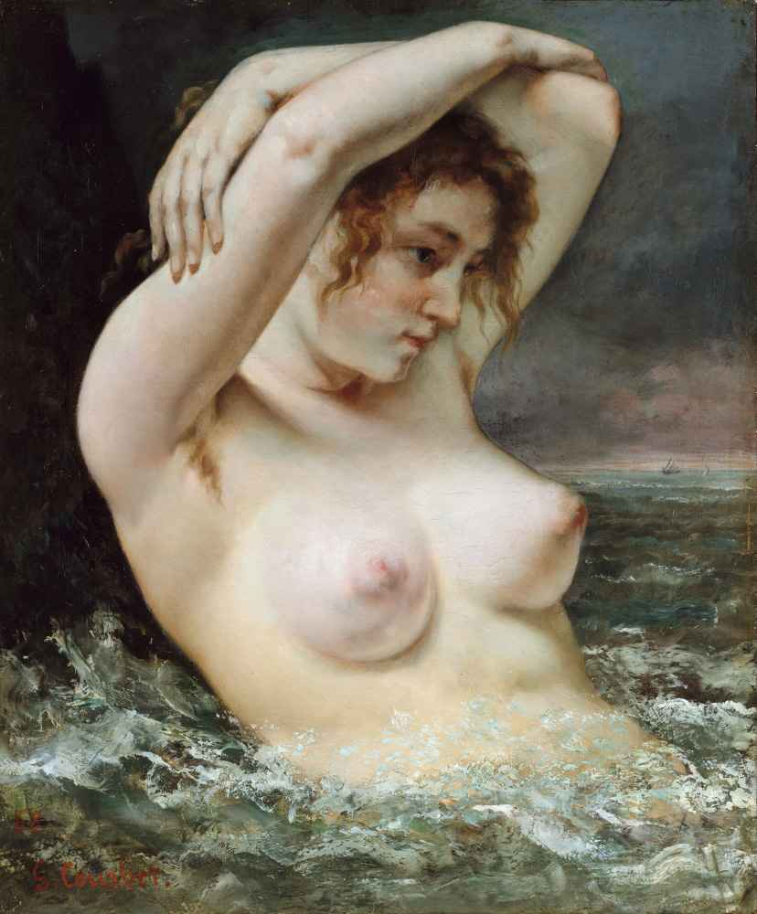 The Woman in the Waves - Gustave Courbet