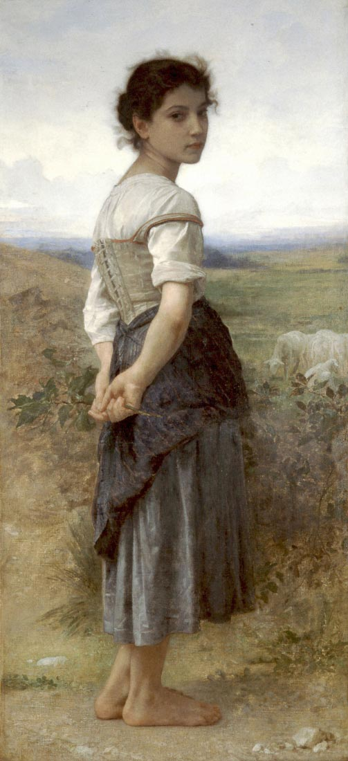 The Young Shepherdess - Bouguereau