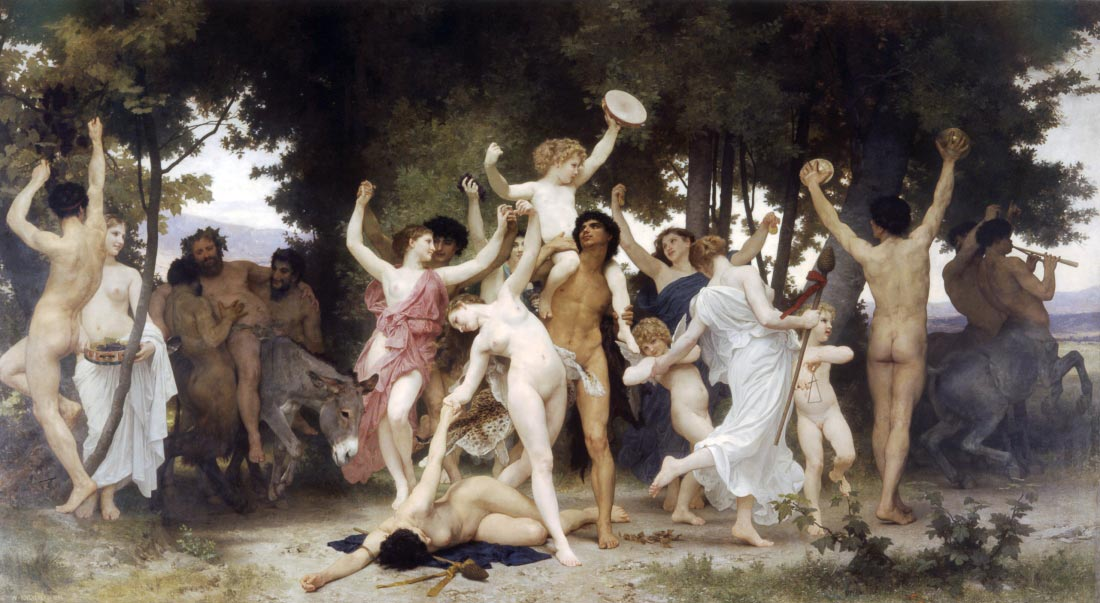 The Youth of Bacchus - Bouguereau