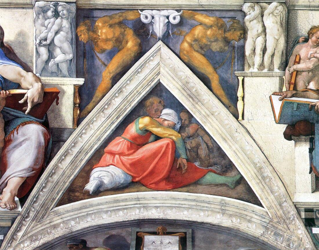 The ancestors of Christ - Asa - Michelangelo