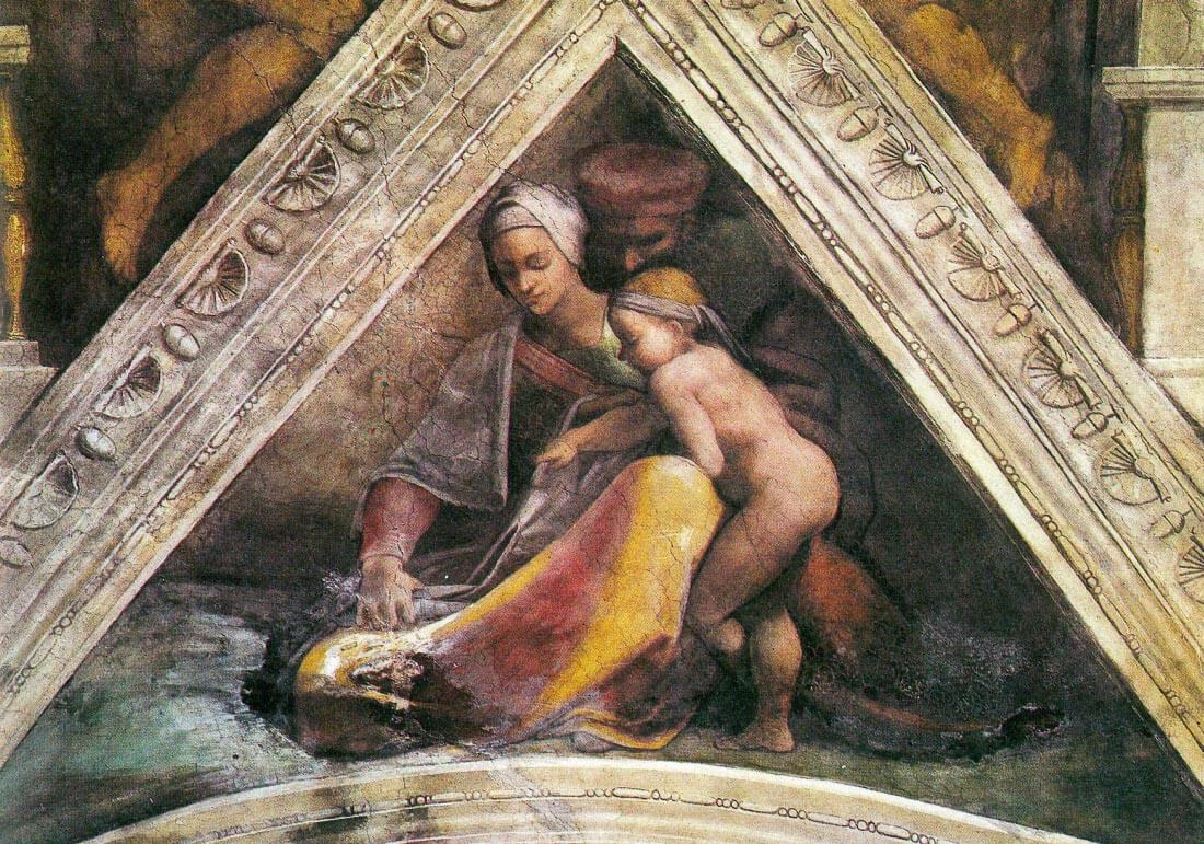 The ancestors of Christ - Family of King Solomon - Michelangelo