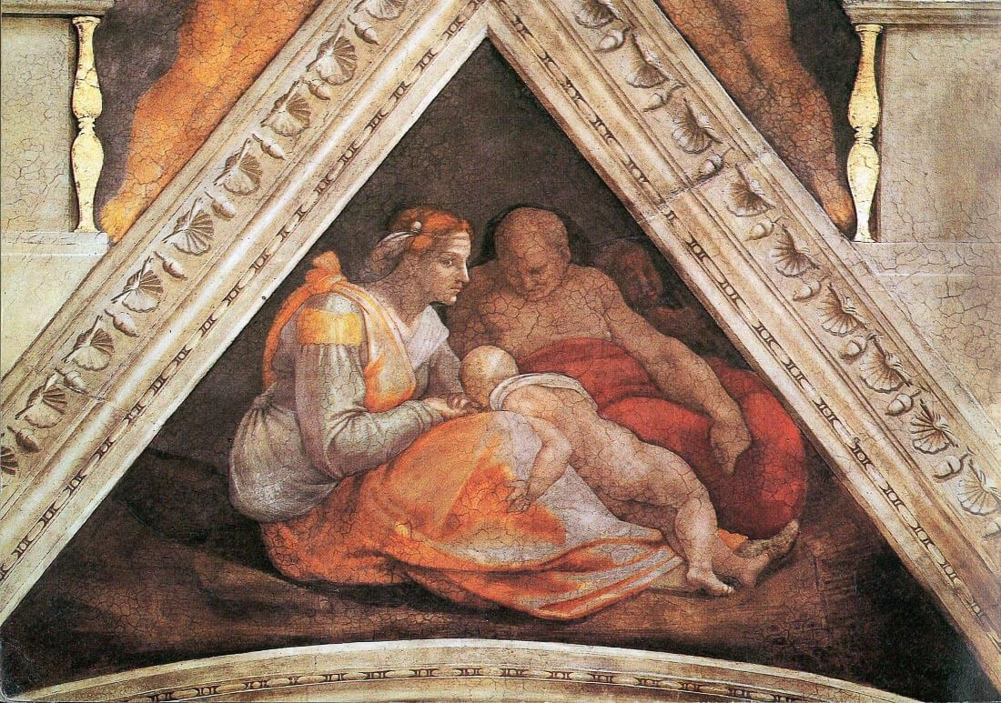 The ancestors of Christ - Family of Zorobabel - Michelangelo