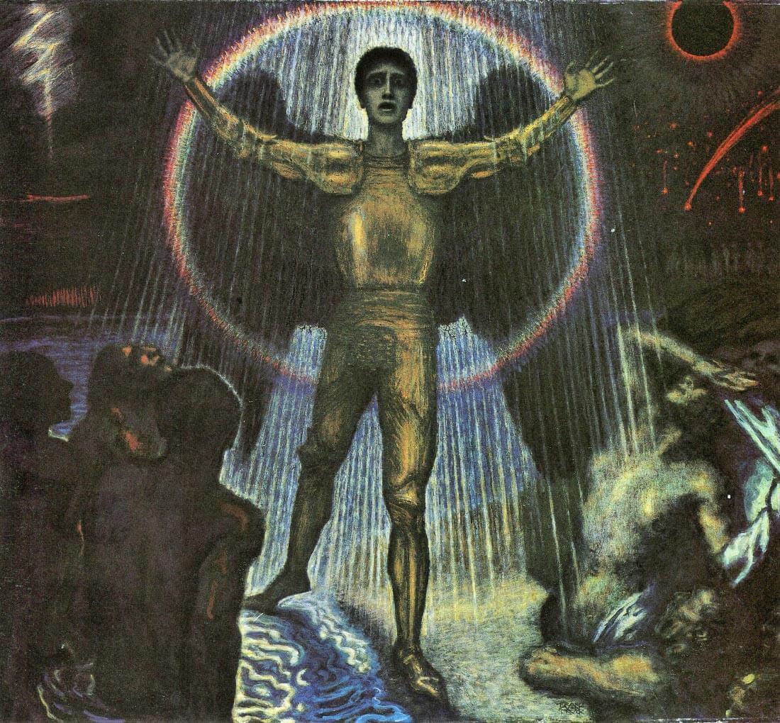 The angel of the Court - Franz von Stuck