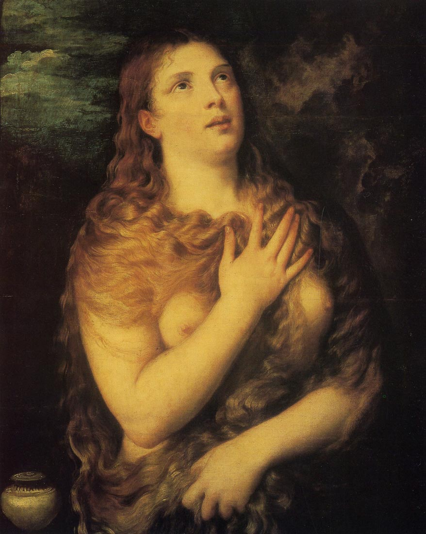 The atoned Magdalena, - Titian