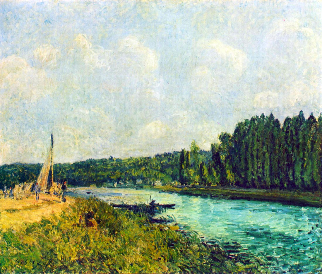 The banks of the Oise - Sisley
