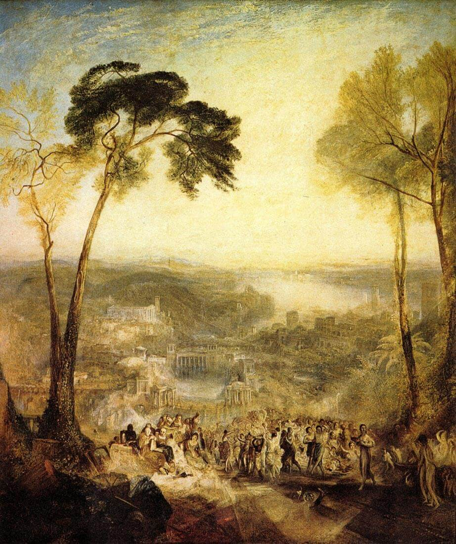 The baths, Venus and Demosthenes - Joseph Mallord Turner