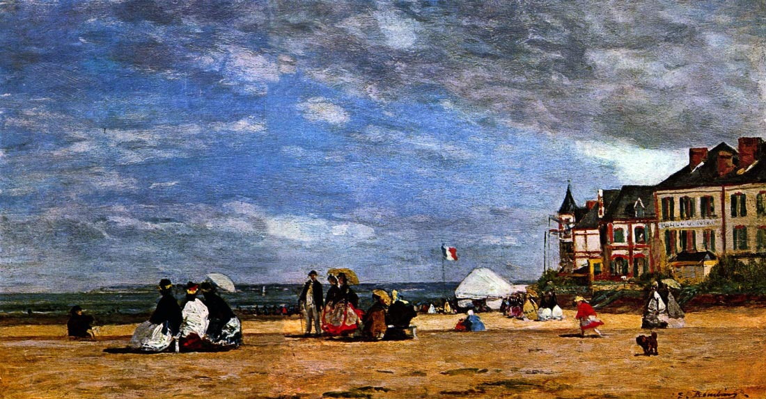 The beach at Trouville - Boudin