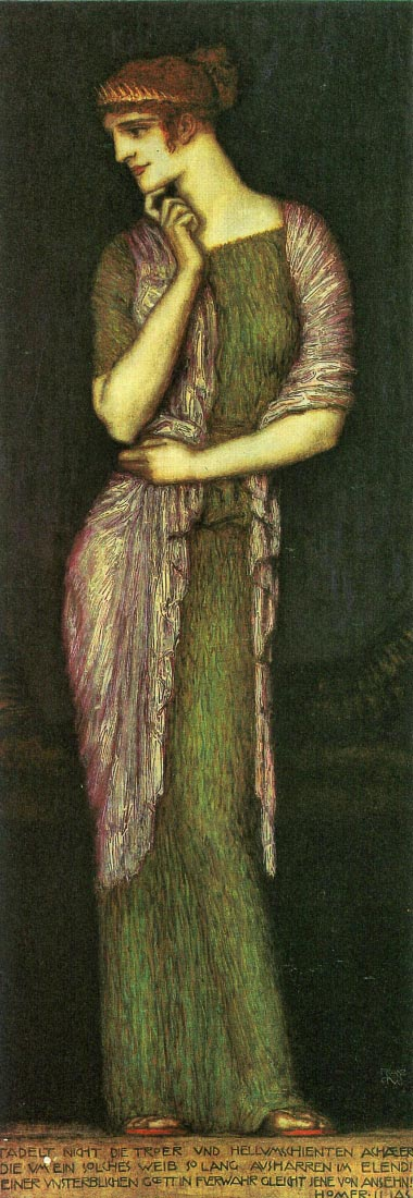 The beautiful Helena - Franz von Stuck