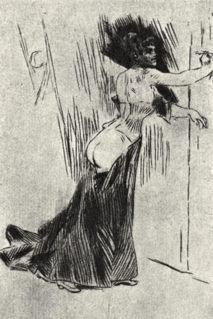 The bolt - Felicien Rops