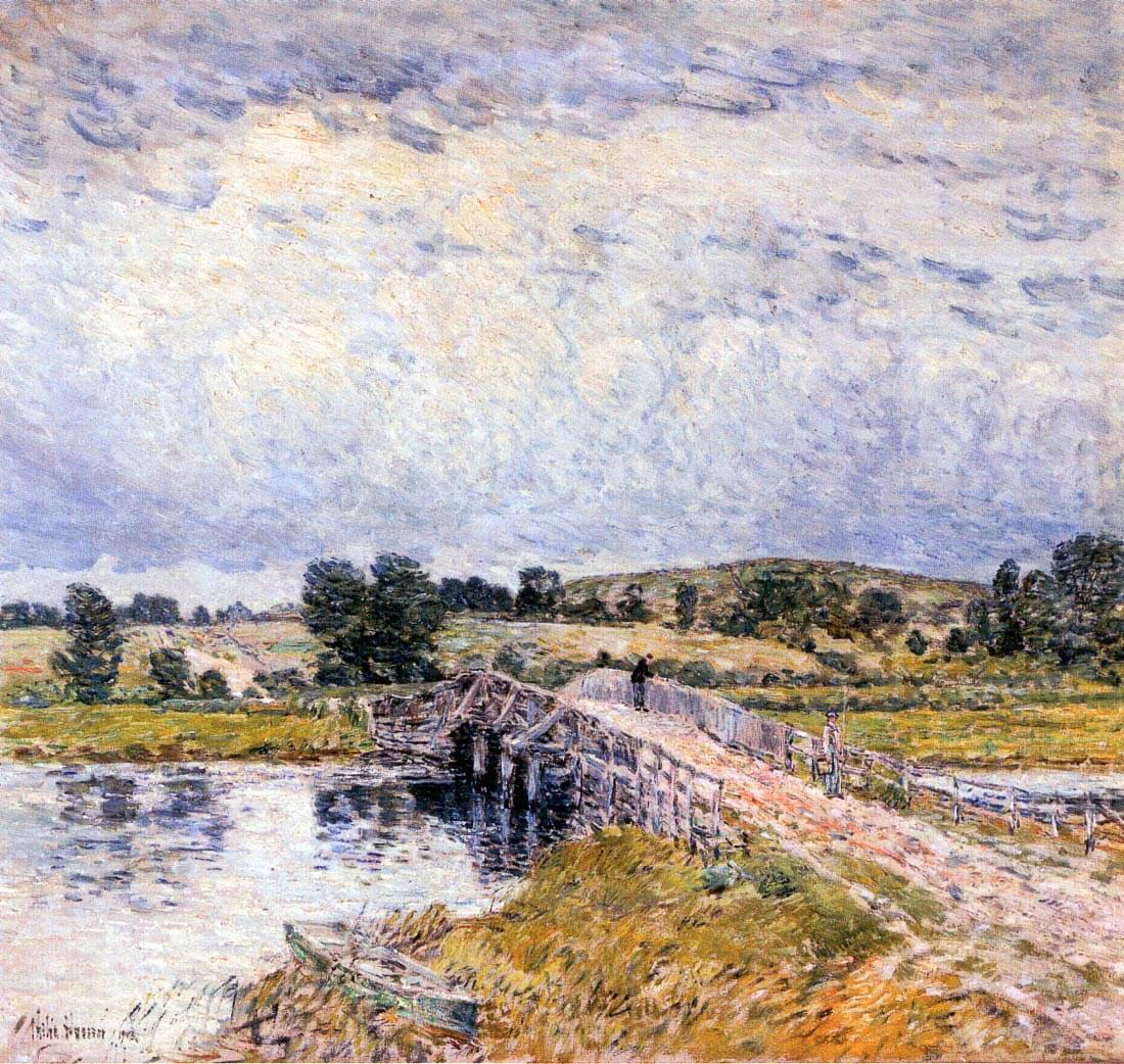 The bridge from Old Lyme - Hassam