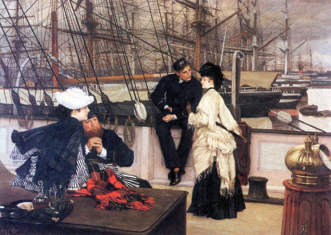 The captain and his girl - Tissot