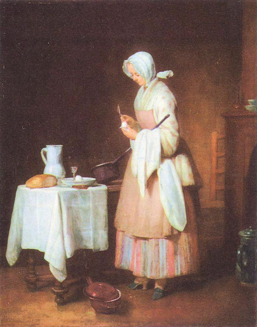 The caring maid - Jean Chardin