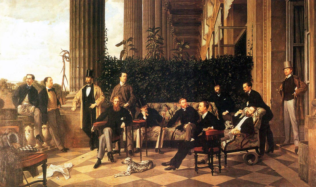 The circle of the Rue Royale - Tissot