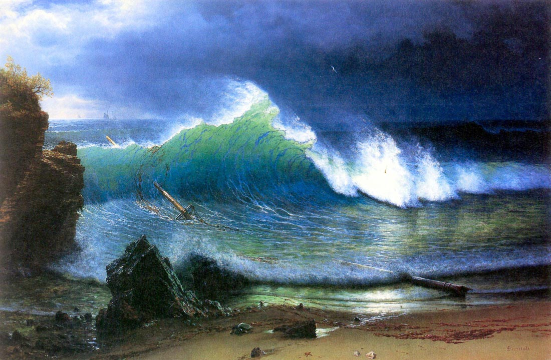 The coast of the Turquoise sea - Bierstadt