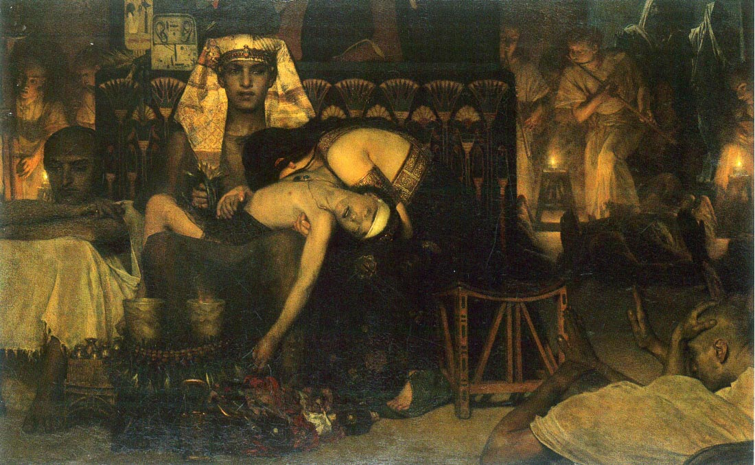 The death of the First Born - Alma-Tadema