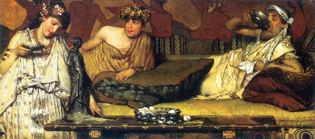 The dinner (Greek), detail - Alma-Tadema