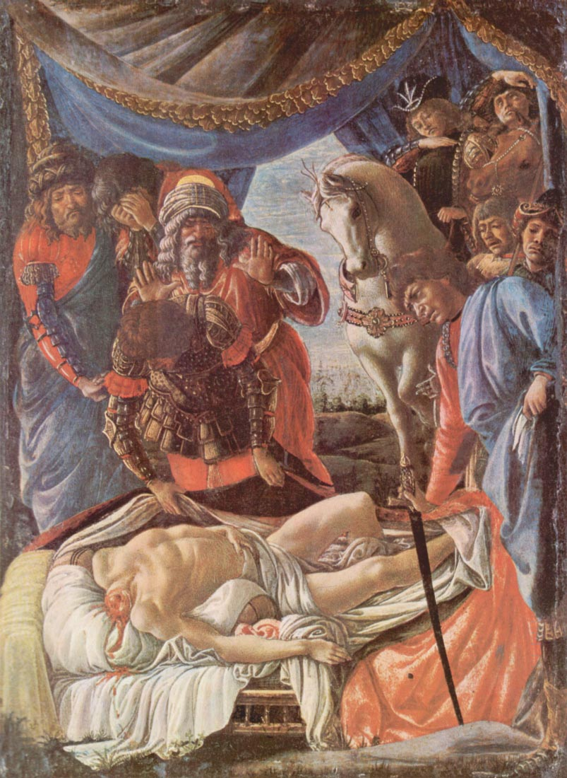 The discovery of the beheaded Holofernes - Botticelli