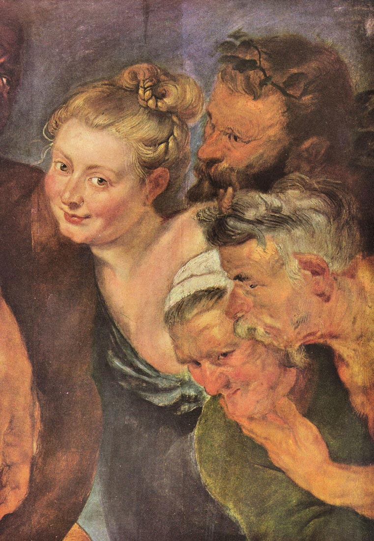 The drunken Silenus, detail - Rubens