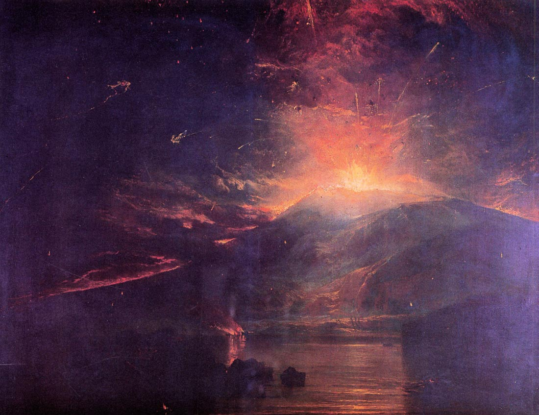 The eruption of volcano Souffrier - Joseph Mallord Turner