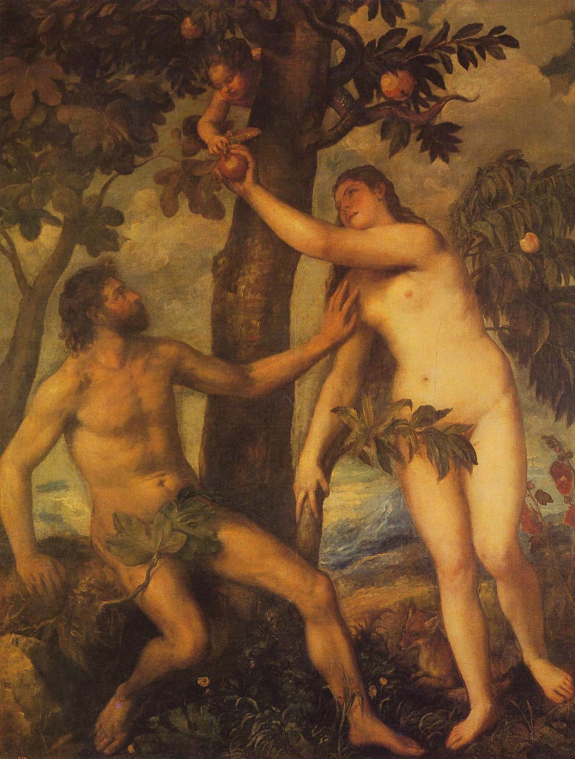 The fall of man, - Titian