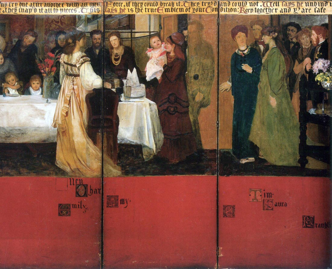 The family picture of Epps, panels 4-6 - Alma-Tadema