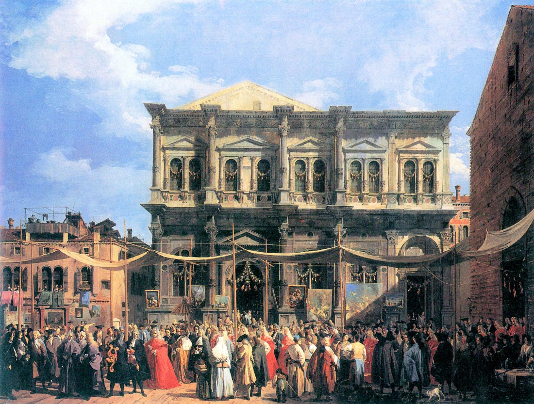 The festival Rochus - Canaletto