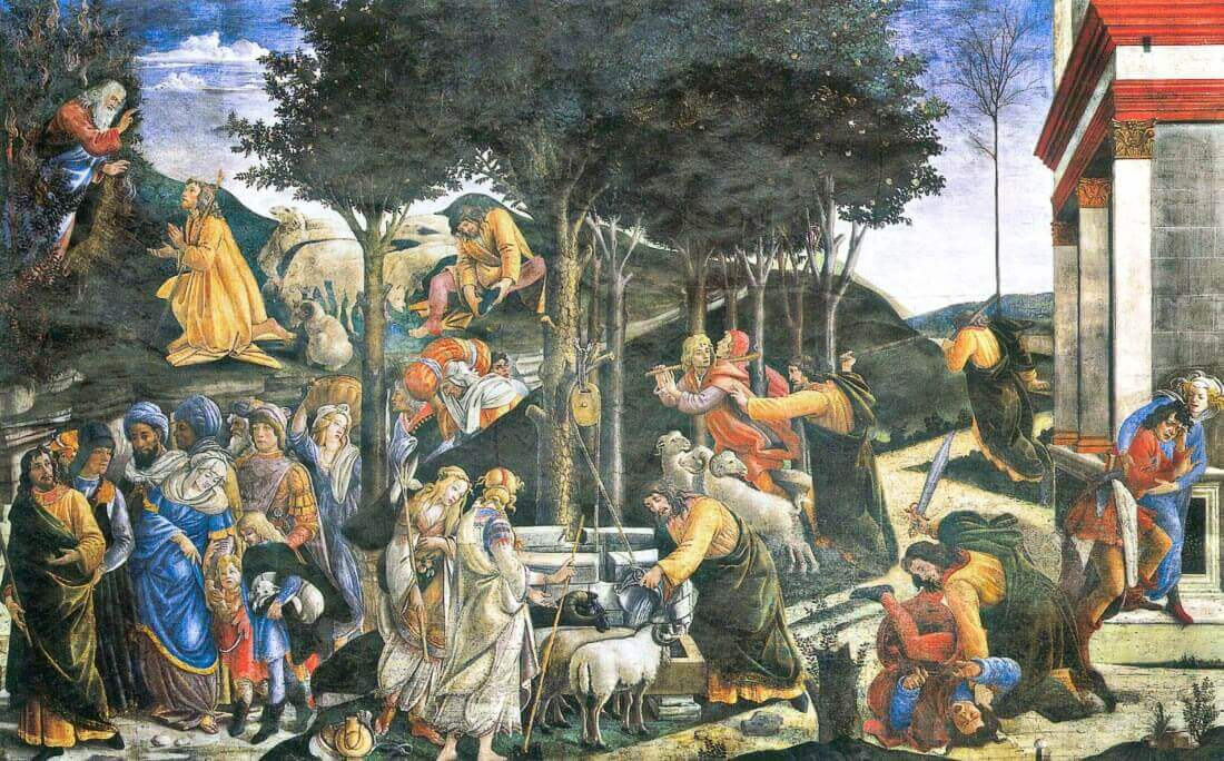 The flight of Moses - Botticelli