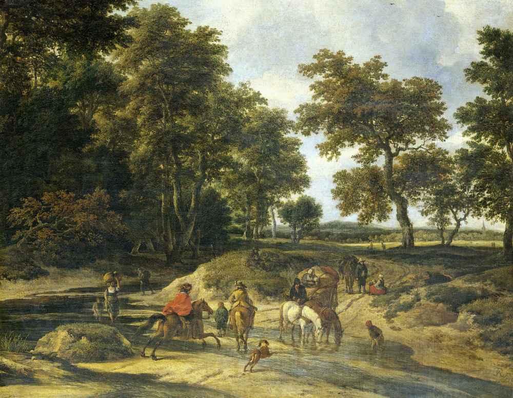 The ford - Jacob van Ruisdael