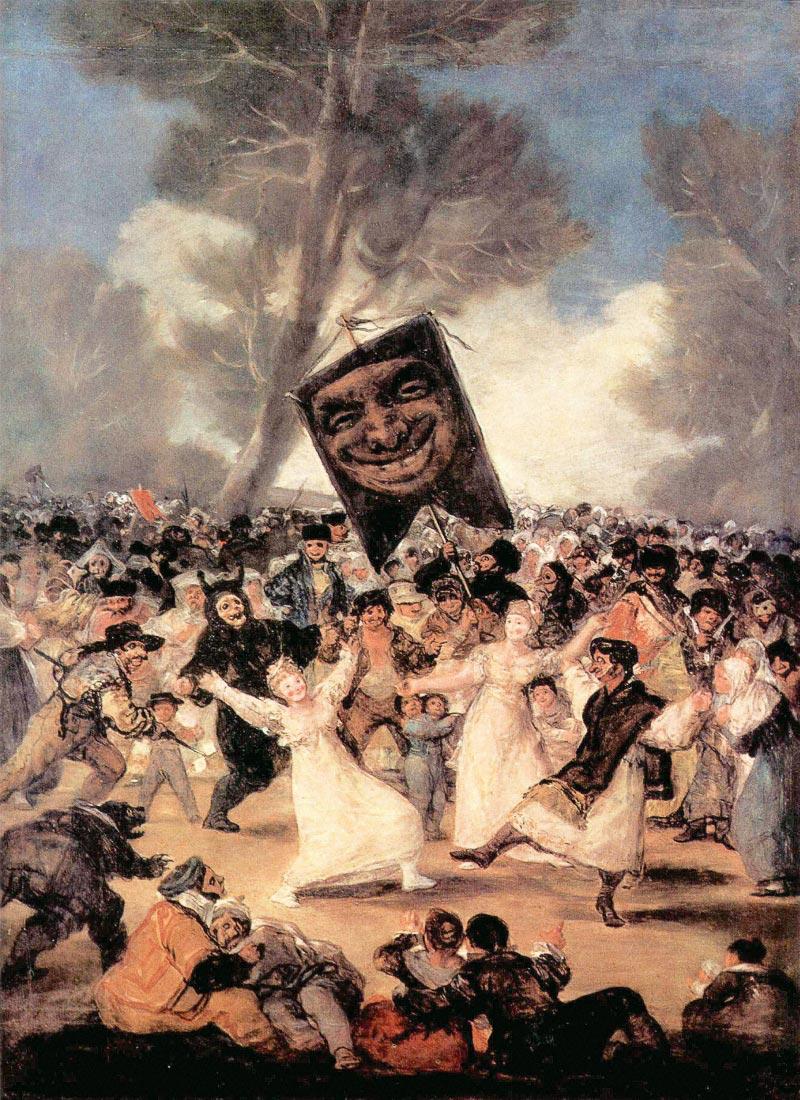 The funeral of Sardina - Goya
