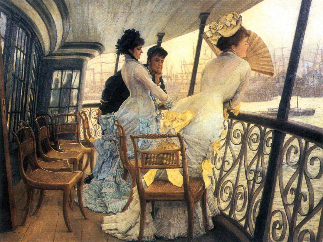 The gallery of the H.M.S. Calcutta - Tissot