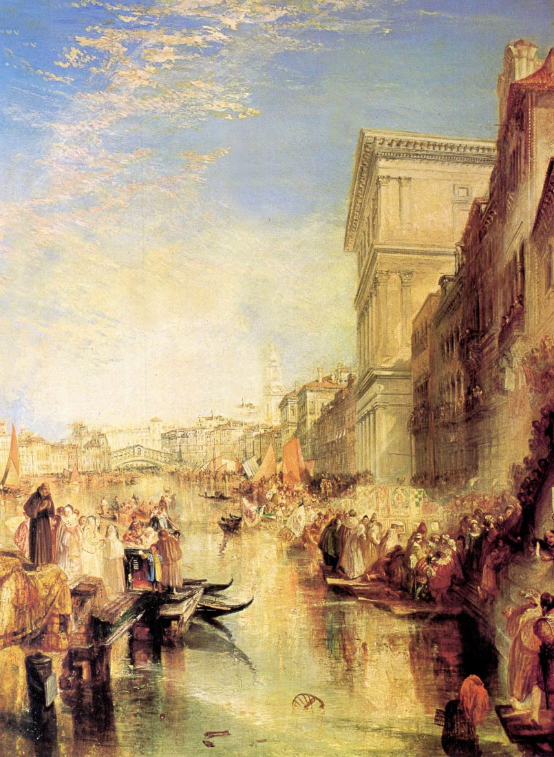 The grand canal in Venice - Joseph Mallord Turner