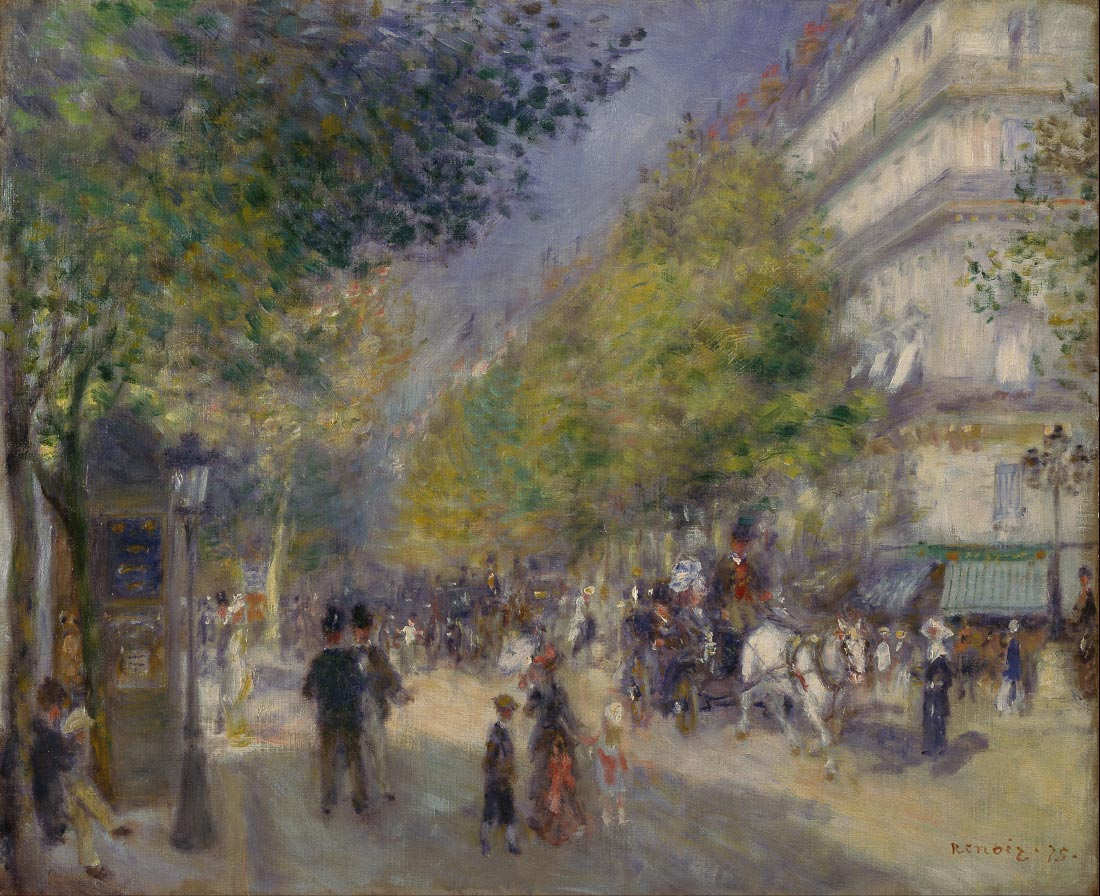 The grands boulevards - Renoir