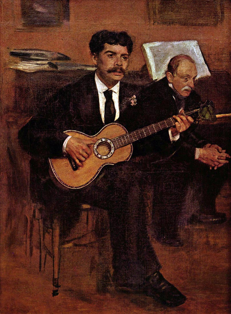 The guitarist Pagans and Monsieur Degas - Manet