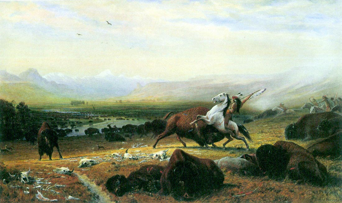 The last Buffalo - Bierstadt