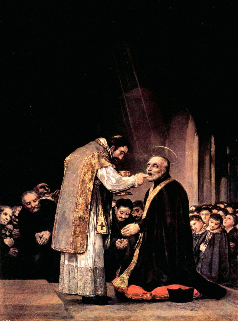 The last communion of St. Joseph of Calasanza - Goya