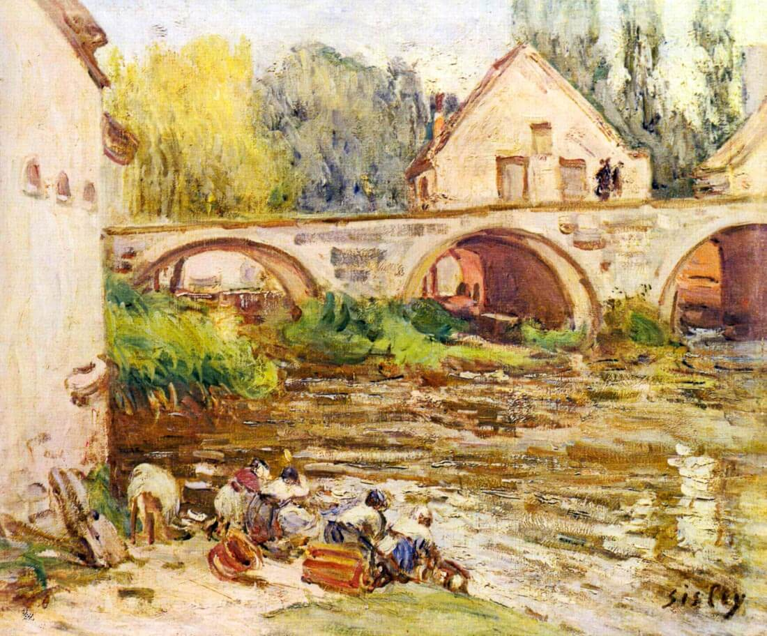 The laundresses by Moret - Sisley