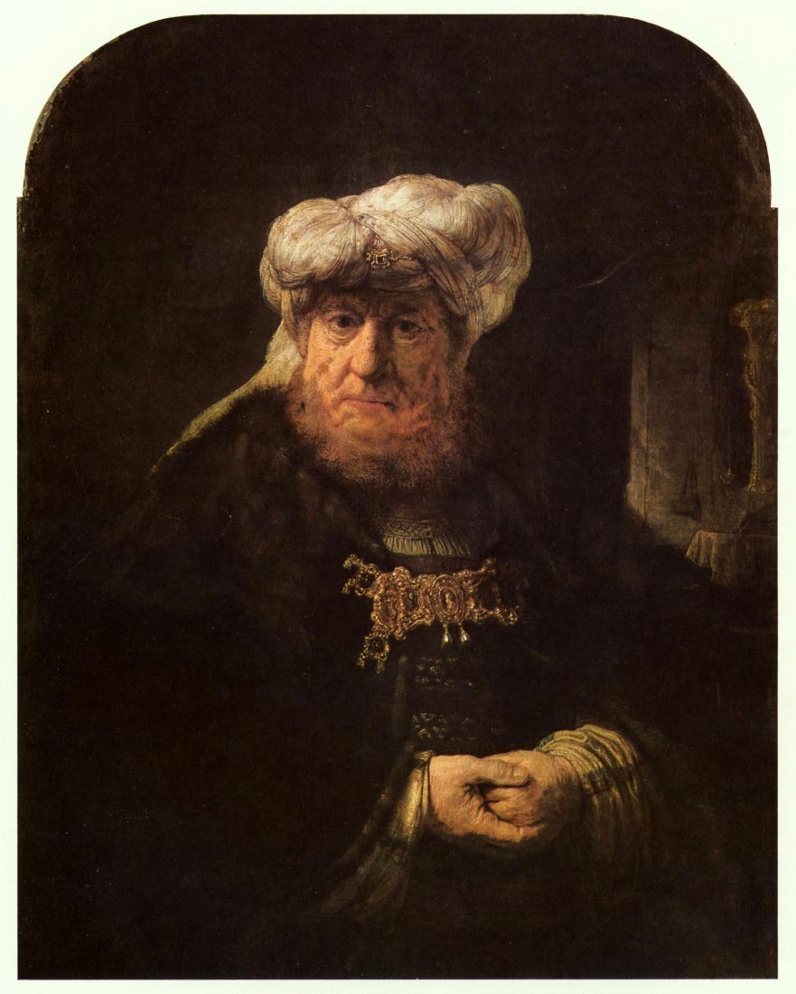 The leper king Uzziah - Rembrandt