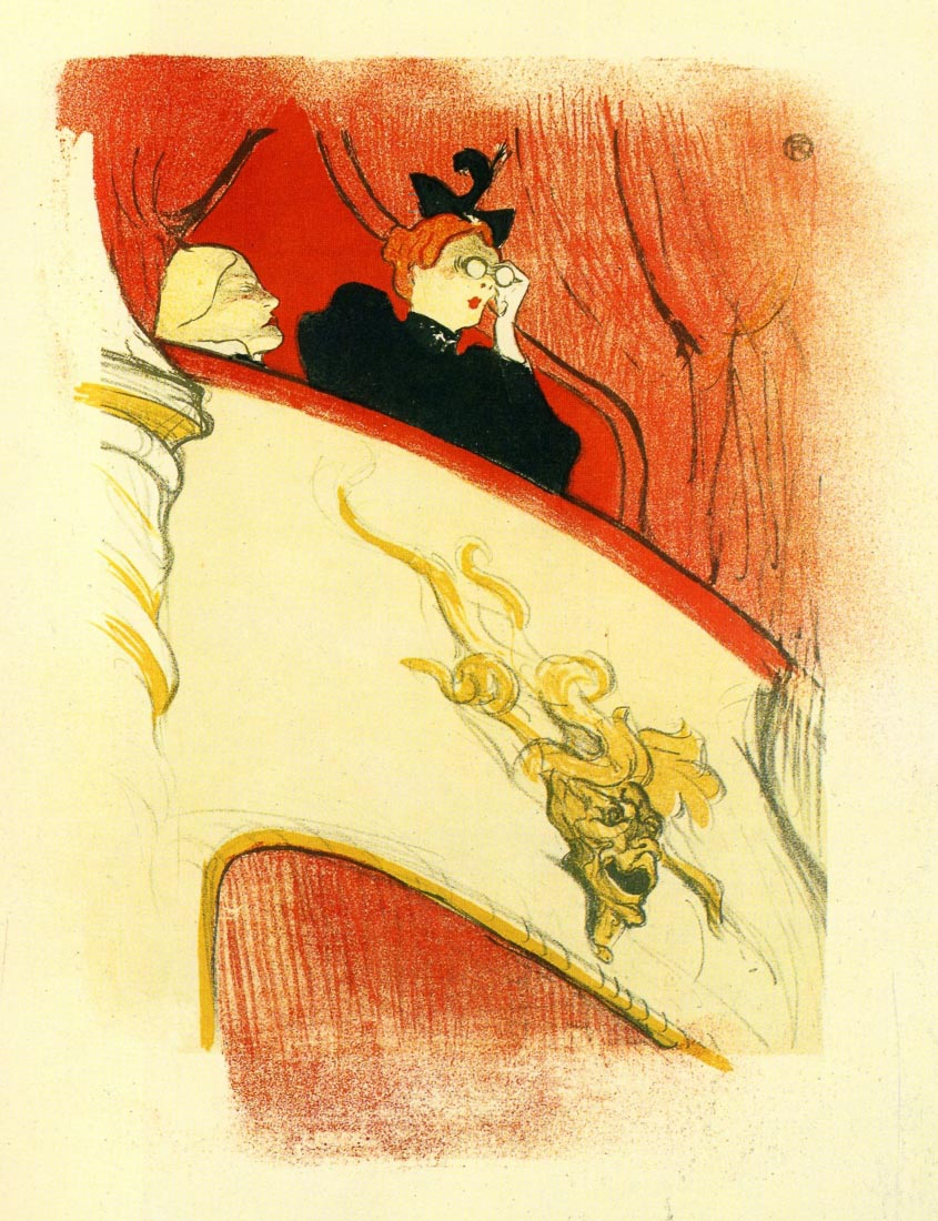 The loge with a gold mas - Toulouse-Lautrec