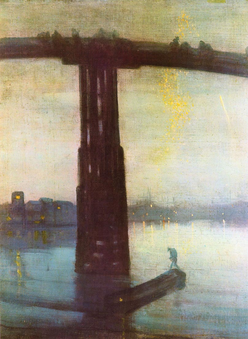 The old Battersea Bridge - James Abbot McNeill Whistler